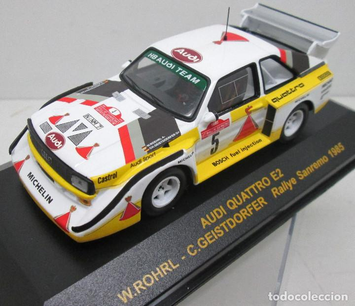 Coches a escala: AUDI QUATTRO E2,ROHRL-GEISTDORFER,Rallye Sanremo 1985,RALLY CAR COLLECTION PLANETA DEAGOSTINI 1/43 - Foto 1 - 113339067