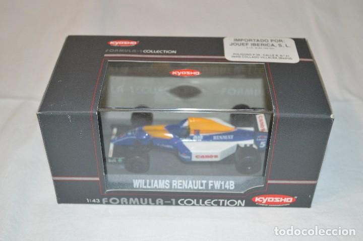 Coches a escala: Williams Renault FW14B. Formula 1 colletion. 1/43. Kyosho. romanjuguetesymas. - Foto 6 - 115677083
