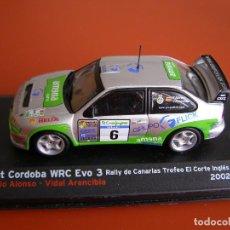 Coches a escala: SEAT CORDOBA WRC EVO 3. RALLY DE CANARIAS TROFEO EL CORTE INGLES, ALTAYA 1/43.. Lote 118705131