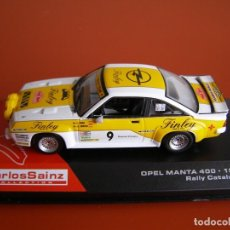 Coches a escala - OPEL MANTA 400 DEL AÑO 84, RALLY CATALUNYA, COLECCION CARLOS SAINZ, ALTAYA 1/43. - 118705651