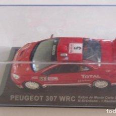Coches a escala: COCHE PEUGEOT 307 WRC RALLYE DE MONTE CARLO 2004, M. GRONHOL, - T. RAUTIAINEN, EN CAJA. CC. Lote 118966403