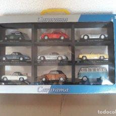 Coches a escala: COLECCIÓN 9 COCHES CLÁSICOS CARARAMA (MINI COOPER, VW BUS SAMBA, MERCEDES 300SL, ETC) 1/43 NUEVOS*. Lote 119135779