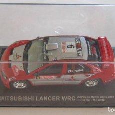 Coches a escala: COCHE MITSUBISHI LANCER WRC RALLYE DE MONTE CARLO 2004, G. PANIZZI - H. PANIZZI, EN CAJA. CC. Lote 119160931