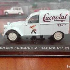 Coches a escala: CITROEN 2CV FURGONETA CACAOLAT LETONA 1/43. Lote 120148023