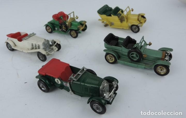 Coches a escala: 5 COCHES DE METAL, MARCA LESNEY ENGLAND, SON MERCEDES BENZ, ROLL ROYCE, BENTLEY, RENAULT 1911, SPYKE - Foto 2 - 121978231