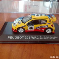 Coches a escala: PEUGEOT 206 WRC GREAT BRITAIN RALLY 2002 1/43. Lote 122709691