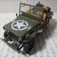 Carros em escala: JEEP WILLYS MILITAR US ARMY MB FORD GPW METALICO COLECCION IXO LUPPA ESCALA 1/43 8CM LARGO DIE CAST. Lote 223640203