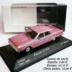 Coches a escala: WHITE BOX WHITEBOX DODGE DART 270 - BARREIROS 1966 - SERIE LIMITADA. Lote 124252863