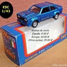 Coches a escala: TOMICA DANDY F20 SERIE ITALIA FIAT 131 ABARTH - AZUL METALIZADO. Lote 95615375