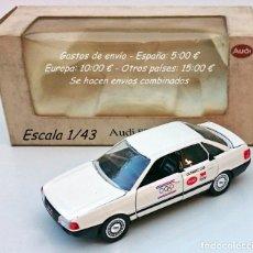 Coches a escala: SCHABAK 1035 - AUDI 80 QUATTRO OLYMPIC CAR BARCELONA 1992 / SERIE LIMITADA. Lote 93622795