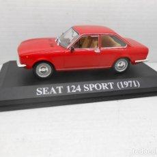 Coches a escala: COCHE SEAT 124 SPORT ROJO 1971 ALTAYA IXO MODEL CAR 1/43 1:43 MINIATURE MINIATURA AUTO FIAT. Lote 126551931