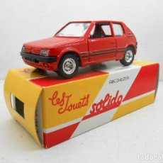 Coches a escala: 5 COCHE PEUGEOT 205 SOLIDO SALVAT CAR 1:43 MINIATURE MINIATURA MADE IN FRANCE . Lote 126890183