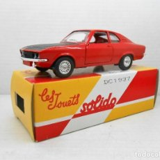 Coches a escala: 6 COCHE OPEL MANTA 1900 SR SOLIDO SALVAT CAR 1:43 MINIATURE MADE IN FRANCE . Lote 126890323