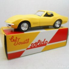 Coches a escala: 8 COCHE CHEVROLET CORVETTE 68 SOLIDO SALVAT CAR 1:43 MINIATURE MADE IN FRANCE . Lote 126890611