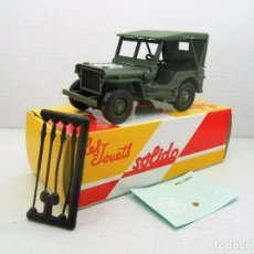 Coches a escala: 17 COCHE JEEP WILLYS MILITAR SOLIDO SALVAT CAR 1:43 MODEL 1/43 MILITARY US ARMY. Lote 126891419