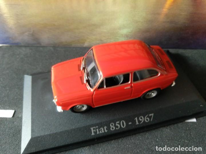 Coches a escala: FIAT - SEAT, 850 DE 1967, ROJO, IXO SALVAT, 1/43, NUEVO - Foto 2 - 131665218