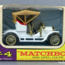 Coches a escala: OPEL COUPÉ 1909 MATCHBOX MODELS OF YESTERDAY LESNEY 1/43 MADE IN ENGLAND CON CAJA. Lote 132386370