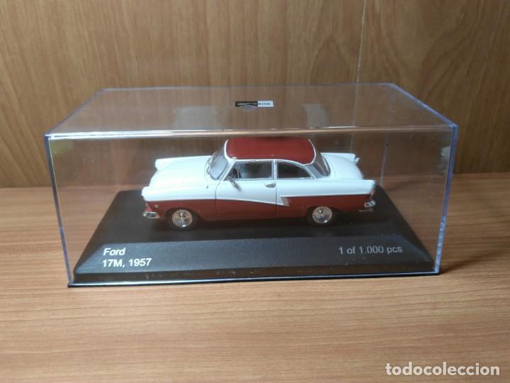 Coches a escala: FORD 17M, DE 1957, WHITEBOX, NUEVO, 1/43 SERIE LIMITADA. - Foto 3 - 133864750