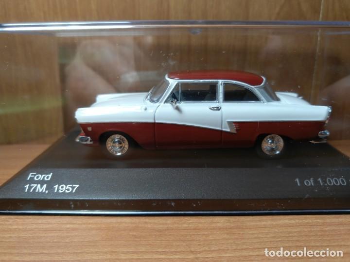 Coches a escala: FORD 17M, DE 1957, WHITEBOX, NUEVO, 1/43 SERIE LIMITADA. - Foto 11 - 133864750