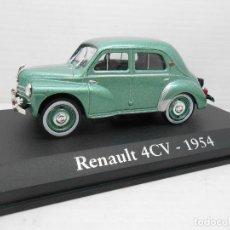 Coches a escala: COCHE RENAULT 4/4 VERDE METALIZADO RBA METAL MODEL CAR 1/43 1:43 MINIATURA ALFREEDOM. Lote 156658768