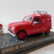 Coches a escala: RENAULT 4 L BOMBEROS D´ANIONAY 1965-1/43. Lote 137750618