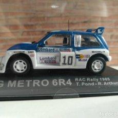 Coches a escala: MG METRO 6R4 1985 RAC RALLY, T.PONT- R. ARTHUR, IXO ALTAYA, 1/43, NUEVO. Lote 139593442