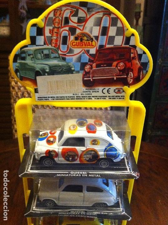 Coches a escala: Seat 600 Guisval Expositor 6 Coches escala 1/43. Miniaturas en metal. Completo. Edición años 60s - Foto 2 - 114726591
