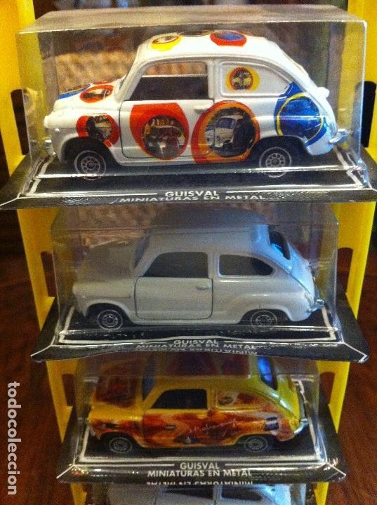 Coches a escala: Seat 600 Guisval Expositor 6 Coches escala 1/43. Miniaturas en metal. Completo. Edición años 60s - Foto 3 - 114726591
