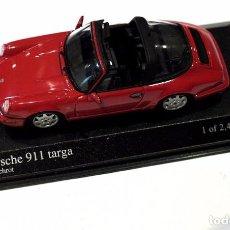 Coches a escala: * PORSCHE 911 TARGA 1991, INDISCHROT , MINICHAMPS EDICIÓN LIMITADA , NUEVO CON CAJA. Lote 140762554
