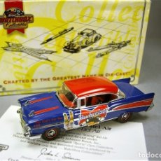 Coches a escala: CHEVROLET BEL-AIR '57 BUD BEER BUDWEISER DINKY COLLECTION MATCHBOX COLLECTIBLES 1/43 - NUEVO EN CAJA. Lote 27293552