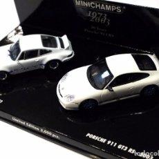 Coches a escala: SET COCHES PORSCHE 911 RSR 2.8 1973 Y PORSCHE 911 GT3 RS 2003, 30 ANIVERSARIO, ED. LIMITADA, NUEVO *. Lote 143693006