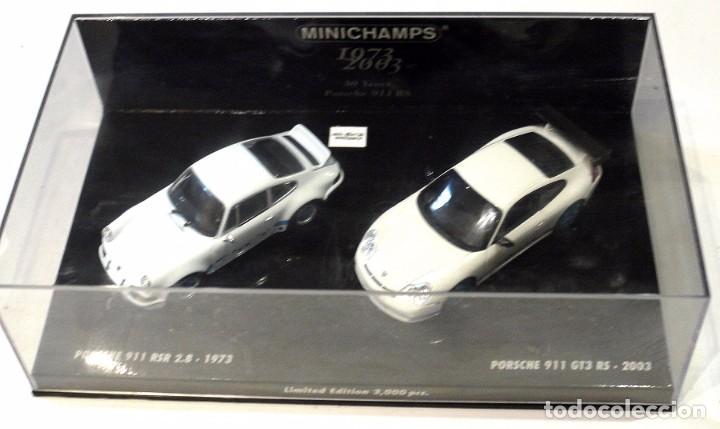 Coches a escala: SET COCHES PORSCHE 911 RSR 2.8 1973 Y PORSCHE 911 GT3 RS 2003, 30 ANIVERSARIO, ED. LIMITADA, NUEVO * - Foto 2 - 143693006