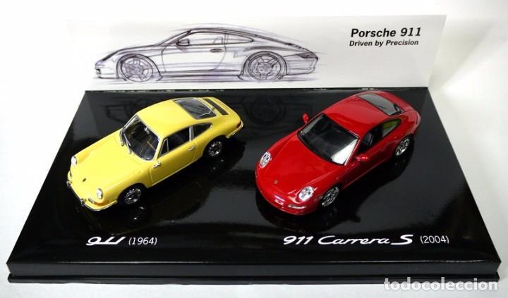 SET DE COCHES PORSCHE 911 1964 Y PORSCHE 911 CARRERA S 2004 , 1:43, NUEVO CON CAJA, WAP 020 SET 09 * (Juguetes - Coches a Escala 1:43 Otras Marcas)