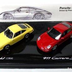 Coches a escala: SET DE COCHES PORSCHE 911 1964 Y PORSCHE 911 CARRERA S 2004 , 1:43, NUEVO CON CAJA, WAP 020 SET 09 *. Lote 143695378