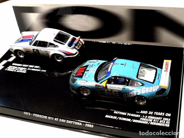 SET DE COCHES PORSCHE 911 RSR 2.8 1973 Y PORSCHE 911 GT3 RS 2003 AT 24H DAYTONA, NUEVO, 1:43 * (Juguetes - Coches a Escala 1:43 Otras Marcas)