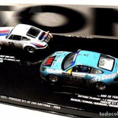 Coches a escala: SET DE COCHES PORSCHE 911 RSR 2.8 1973 Y PORSCHE 911 GT3 RS 2003 AT 24H DAYTONA, NUEVO, 1:43 *. Lote 143701006