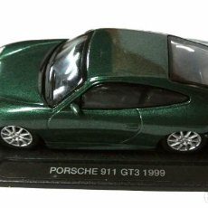 Coches a escala: COCHE PORSCHE 911 GT3 1999 ,DIE CAST METAL, DEAGOSTINI , 1:43, CON PEANA BASE *. Lote 143709790