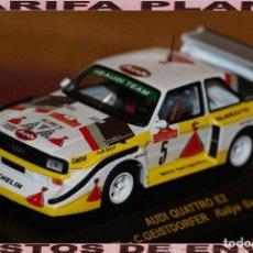 Coches a escala - AUDI QUATTRO E2 RALLYE SANREMO 1985 WALTER RHOL ESCALA 1:43 DE RALLY CAR EN CAJA - 145260034