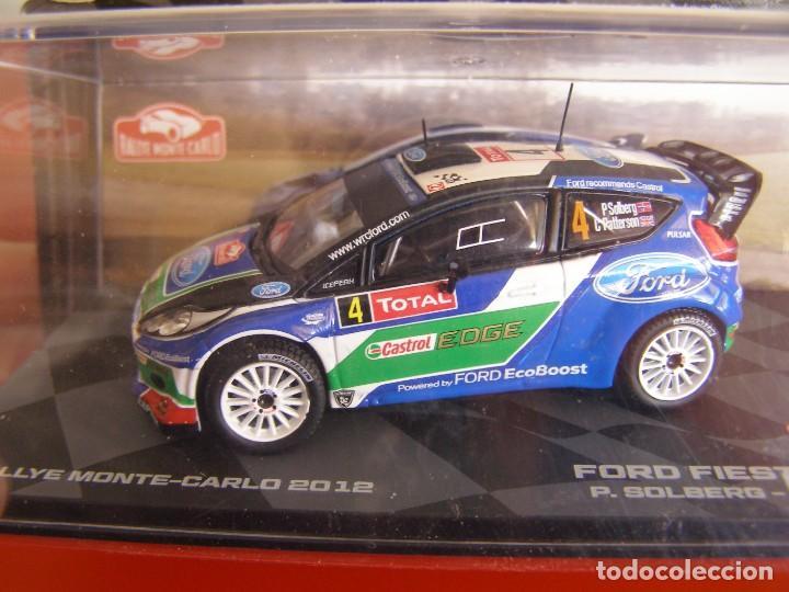 1/43 FORD FIESTA RS WRC DE P. SOLBERG, NUEVA COLECCION RALLY MONTECARLO ITALIA, EAGLE MOSS ALTAYA. (Juguetes - Coches a Escala 1:43 Otras Marcas)