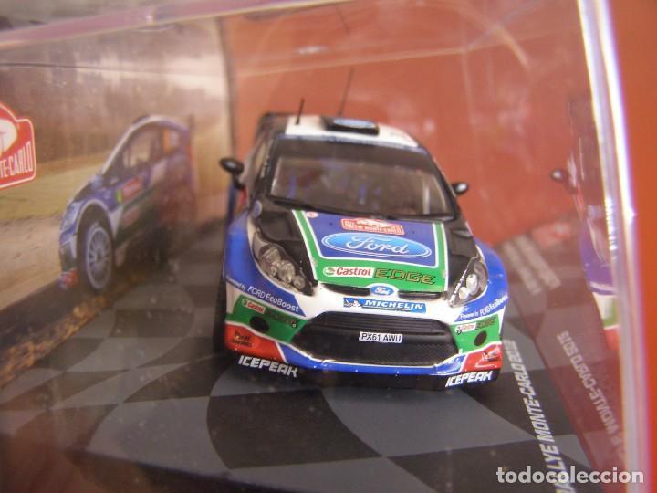 Coches a escala: 1/43 FORD FIESTA RS WRC DE P. SOLBERG, NUEVA COLECCION RALLY MONTECARLO ITALIA, EAGLE MOSS ALTAYA. - Foto 2 - 145726374