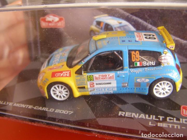 1/43 RENAULT CLIO S1600 DE L. BETTI, NUEVA COLECCION RALLY MONTECARLO ITALIA, EAGLE MOSS ALTAYA. (Juguetes - Coches a Escala 1:43 Otras Marcas)