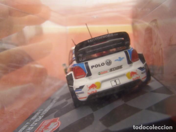 Coches a escala: 1/43 VOLKSWAGEN POLO R WRC DE OGIERI, NUEVA COLECCION RALLY MONTECARLO ITALIA, EAGLE MOSS ALTAYA. - Foto 3 - 145728082