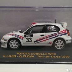 Coches a escala: TOYOTA COROLLA WRC SEBASTIÁN LOEB RALLY TOUR DE CORSE 2000 IXO-ALTAYA. Lote 146175929
