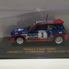 Model Cars - Renault 5 Maxi Turbo Jean Ragnotti rally tour de Corse 1985, Ixo altaya - 146457916