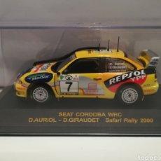 Coches a escala: SEAT CÓRDOBA WRC DIDIER AURIOL RALLY SAFARI 2000 IXO-ALTAYA. Lote 146594434