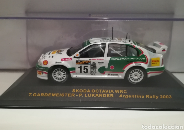 SKODA OCTAVIA WRC, TONY GARDEMEISTER , RALLY ARGENTINA 2003, IXO ALTAYA (Juguetes - Coches a Escala 1:43 Otras Marcas)