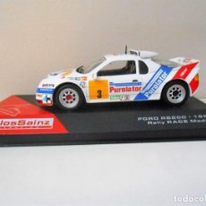 Coches a escala: 2412 COCHE FORD RS200 RS 200 CARLOS SAINZ CAR 1/43 1:43 RALLY RACE MADRID 1987 . Lote 147473162
