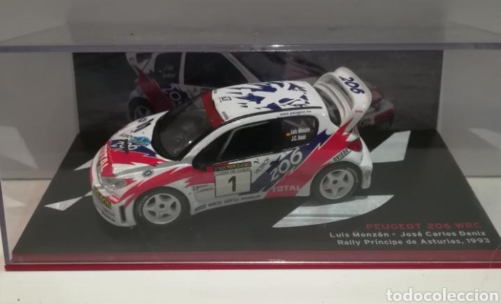 PEUGEOT 206 WRC, LUÍS MONZON, RALLY PRÍNCIPE DE ASTURIAS 1993, IXO-ALTAYA (Juguetes - Coches a Escala 1:43 Otras Marcas)