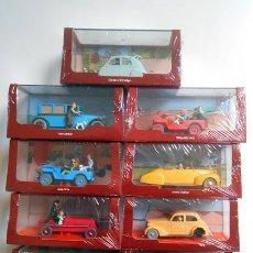 Coches a escala: LOTE 9 COCHES DE TINTIN HERGE CAR MINIATURE 1/43 1:43 MINIATURAS COCHE LINCOLM. Lote 152809121