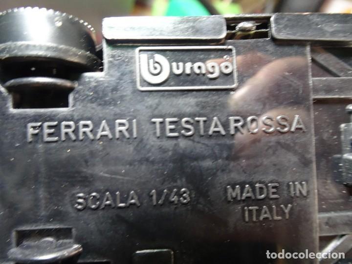 Coches a escala: ANTIGUO COCHE FERRARI TESTAROSSA, 1/43 BURAGO, VER FOTOS - Foto 4 - 148033850